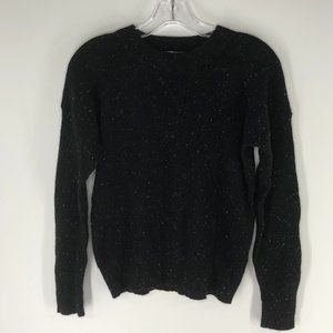 Madewell 100% cashmere sweater donegal ebony black